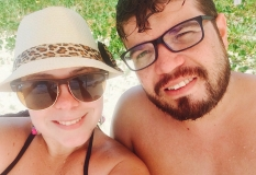 Anderson e Karin - Ilha Anchieta - Ubatuba SP